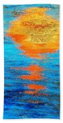 Abstract Watery Sunset Beach Towel