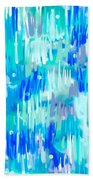 Abstract Winter Beach Towel