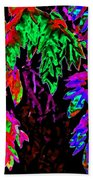 Abstract Wisteria Beach Towel