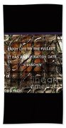 Abstract With Quote Beach Towel