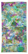 ract with Shapes and Squiggles Beach Towel