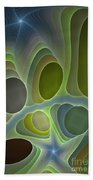 Abstract With Stars Beach Towel