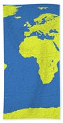 Abstract World Map 0317 Beach Towel
