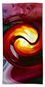 Abstract Yin Yang Lava Beach Sheet