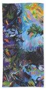 Abstracted Koi Pond Beach Towel