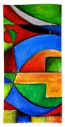 Abstraction 1724 Beach Towel