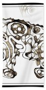 Abstraction 1951 Beach Towel