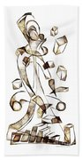 Abstraction 2258 Beach Towel