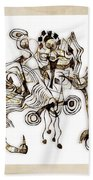 Abstraction 2869 Beach Towel