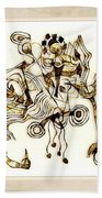 Abstraction 2872 Beach Towel