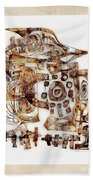 Abstraction 3055 Beach Towel