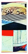 Abstracts On Red Beach Towel