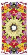 Abundantly Colorful Orchid Mandala Beach Towel