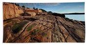 Acadia Rocks Beach Towel