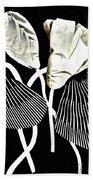 Accordion Leaf Flowers Beach Towel