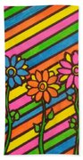Aceo Abstract Flowers Beach Towel