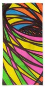 Aceo Abstract Spiral Beach Towel