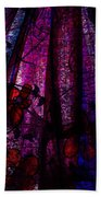 Acid Rain With Red Flowers Beach Towel