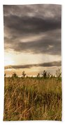 Across Golden Grass Beach Towel by Nick Bywater