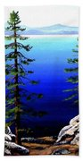 Across Lake Tahoe Beach Towel