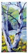 Across The Lake Beach Towel