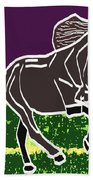 Acrylic Painted Horse On Display Fineart By Navinjoshi At Fineartamerica.com For The Fans Of Horses Beach Towel