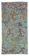 Acrylic Stickmen Character Painting Beach Towel