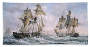 Action Between U.s. Sloop-of-war 'wasp' And H.m. Brig-of-war 'frolic' Beach Towel