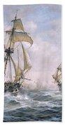 Action Between U.s. Sloop-of-war 'wasp' And H.m. Brig-of-war 'frolic' Beach Towel