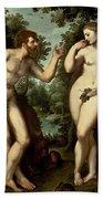 Adam And Eve Beach Towel by Peter Paul Rubens