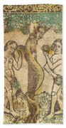 Adam And Eve Beach Towel
