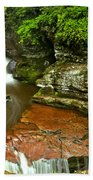 Adams Falls Landscape Beach Towel