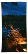 Adirondack Campfire Beach Towel