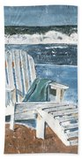 Adirondack Chair Beach Towel by Debbie DeWitt