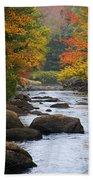 Adirondack Fall Stream 2 Beach Towel