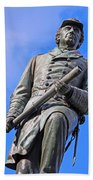 Admiral David Farragut In Farragut Square Beach Towel