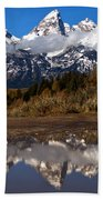 Admiring The Teton Sights Beach Towel