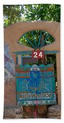 Adobe Wall Chimayo  Beach Towel
