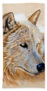 Adobe White Beach Towel by Sandi Baker