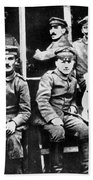 Adolf Hitler With  Fellow Soldiers From The List Regiment  Number Two Circa 1916 Beach Towel
