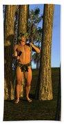 Adonis At Sunset Beach Towel
