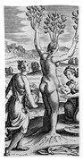 Adonis Being Born From Myrrha Beach Towel