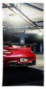 Adv1 Red Porsche 2 Beach Towel