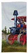 Advance Rumely Steam Traction Engine Beach Towel