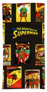 Adventures Of Superman Beach Towel