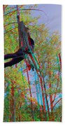 Aerial Artist - Use Red-cyan 3d Glasses Beach Towel