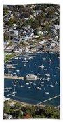 Aerial Edgartown Beach Towel