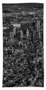 Aerial New York City Sunset Bw Bw Beach Towel