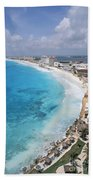 Aerial Of Cancun Beach Towel
