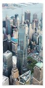 Aerial Of One World Trade Center, New York, Usa Beach Towel